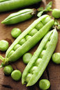 Fresh green peas selective focus Stock Image
