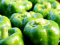 Fresh green peppers Stock Photo