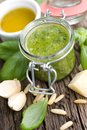 Fresh green pesto Stock Images