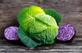 Fresh Green,Red cabbage Royalty Free Stock Photo