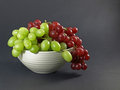 Fresh green and red grapes Royalty Free Stock Photography
