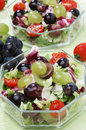 Fresh green salad with grapes Royalty Free Stock Images