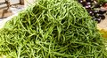 Fresh Green string beans piled a hill