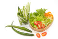 Fresh green vegetables salad closeup Stock Image