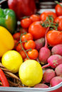 Fresh group of fruits and vegetables Royalty Free Stock Photography