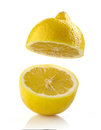 Fresh half lemon Royalty Free Stock Photo