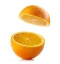 Fresh half orange Royalty Free Stock Photo