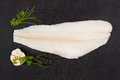 Fresh halibut fillet. Royalty Free Stock Photo