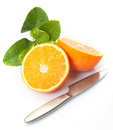 Fresh halved orange Royalty Free Stock Photo