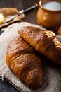 Fresh healthy croissant for breakfast Stock Photography