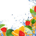 Fresh healthy fruit background Stock Photo