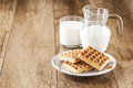 Fresh healthy milk and cookies Royalty Free Stock Images