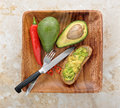 Fresh healthy sandwich with avocado Royalty Free Stock Photo