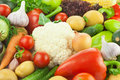 Fresh healthy vegetables big assortiment food background Stock Photos
