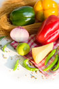 Fresh homegrown vegetables Royalty Free Stock Photos