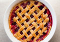 Fresh Homemade Baked Blackberry Pie Closeup Royalty Free Stock Photography