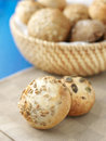 Fresh homemade bread rolls with sesam seeds Royalty Free Stock Images