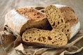 Fresh homemade bread rustic wholegrain Stock Image
