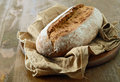 Fresh homemade bread rustic wholegrain Stock Images