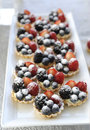 Fresh homemade fruit tart close up Royalty Free Stock Photography