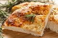 Fresh Homemade Italian Focaccia Bread Royalty Free Stock Photo