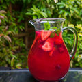 Fresh Homemade Strawberry and Raspberry Lemonade Royalty Free Stock Photo