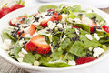 Fresh Homemade Strawberry Spinach Salad Royalty Free Stock Images