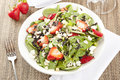 Fresh Homemade Strawberry Spinach Salad Royalty Free Stock Image