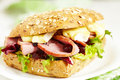Fresh Homemade Turkey Sandwich Royalty Free Stock Photography