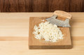 Fresh horseradish being grated Stock Image
