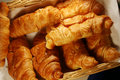 Fresh hot croissant Stock Photos