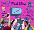 Fresh Ideas Innovation Suggestion Tactics Concept Royalty Free Stock Photo