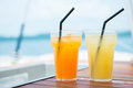 Fresh juice cold for refreshments drink Stock Images