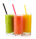 Fresh juices isolated on white background Stock Photo