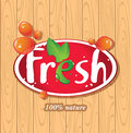 Fresh juices juice drinks inscription on the background of wooden boards Stock Photos