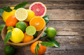 Fresh and juicy citrus fruits