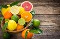 Fresh and juicy citrus fruits Royalty Free Stock Photo