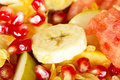 Fresh juicy fruit salad background Royalty Free Stock Photo