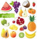 Fresh juicy fruits over white background Royalty Free Stock Images