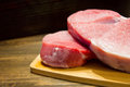 Fresh and juicy marbled beef steak. Purchase in the meat Department. Royalty Free Stock Photo