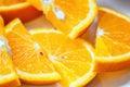 Fresh juicy orange fruit slice isolated citrus fruit natural vitamin c studio photography Stock Image