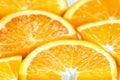 Fresh juicy orange fruit slice isolated citrus fruit natural vitamin c studio photography Royalty Free Stock Photos