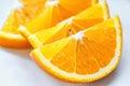 Fresh juicy orange fruit slice isolated citrus fruit natural vitamin c studio photography Royalty Free Stock Image