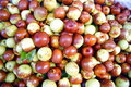 Fresh jujube a pile of in fruit market sales Royalty Free Stock Photo