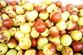 Fresh jujube a pile of in fruit market sales Royalty Free Stock Photos