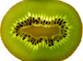 Fresh kiwi fruit sliced seeds Stock Image