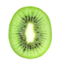 Fresh kiwi slice on white background Stock Image