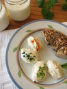 Fresh Labneh - Strained yogurt Stock Image