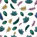 Fresh leaf pattern
