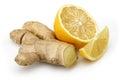 Fresh lemon with ginger Royalty Free Stock Photo